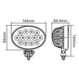 39W LED Arbeitsscheinwerfer 90º 3510LM_