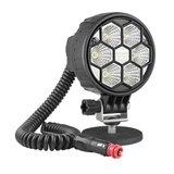 LED Arbeitscheinwerfer Breitstrahler 2500LM Mit Magnethalter und Spiralkabel_