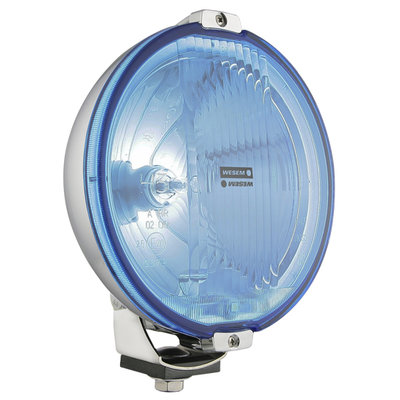 Wesem Halogen HOS2 Fernscheinwerfer Chrom Blau 12V (LED Ring)
