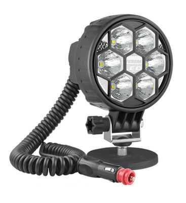 LED Arbeitscheinwerfer Weitstrahler 2500LM Mit Magnethalter und Spiralkabel