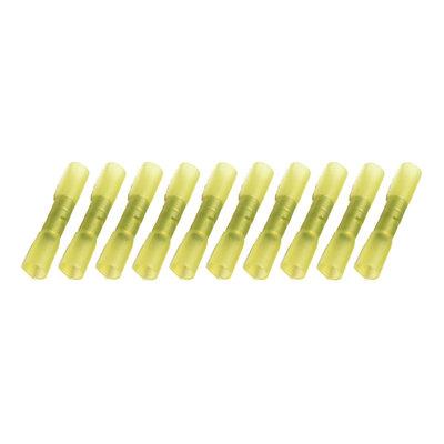 Wärmeschrumpfende Stoßverbinder Wasserdicht Gelb (4-6mm)