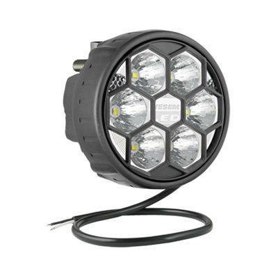 LED Arbeitsscheinwerfer Fernscheinwerfer 2500LM + Kabel + Hinter montage