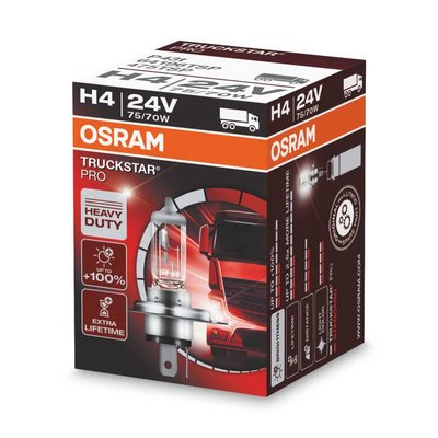 Osram H4 Halogen Lampe 24V 75/70W P43t Truckstar Pro