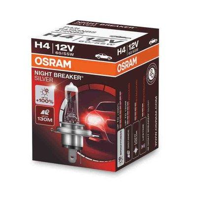 Osram H4 Halogenlampe 12V 60/55W P43t Night Breaker Silver
