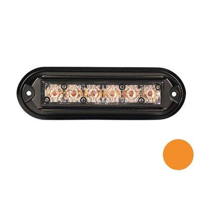 LED-Blitzleuchte mit schwarzem Gehäuse Orange