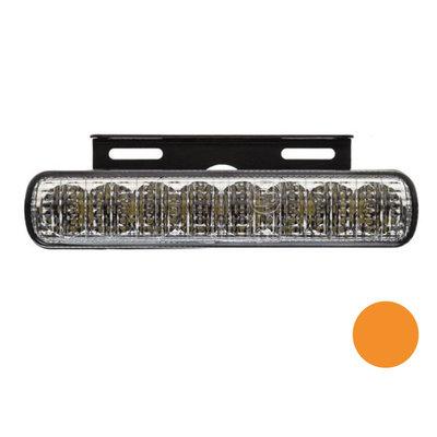 LED Blitzleuchte mit Montagehalterung Orange