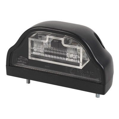 LED-Kennzeichenleuchte Schwarz