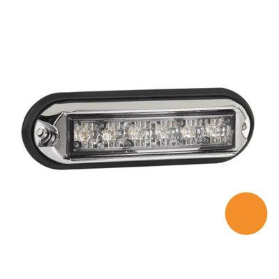LED Blitzleuchte mit Chromgehäuse Orange