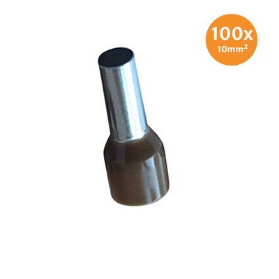 Aderendhüls Isoliert 10mm² Braun 100 Stück