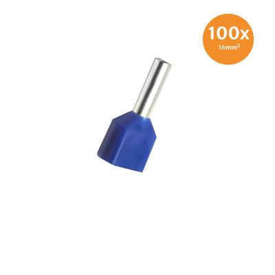 Aderendhülse Doppelt Isoliert 16mm² Blau100 Stück