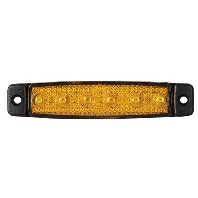 LED Seitenmarkierungsleuchte Kurz Orange 12V