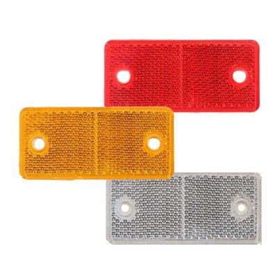 Rechteckiger Reflex - Reflektor Weiss 4,4x9,4