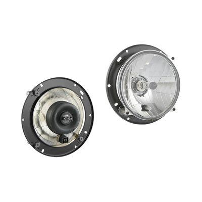 Hauptscheinwerfer H4 Ø182x75 + 12V Lampe und Montageplatte
