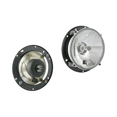 Hauptscheinwerfer H4 Ø182x77 Inklusive 12V Lampe und Montageplatte