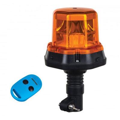 Horpol LED Blitzleuchte + Fernbedienung DIN halter Orange LDO 2279