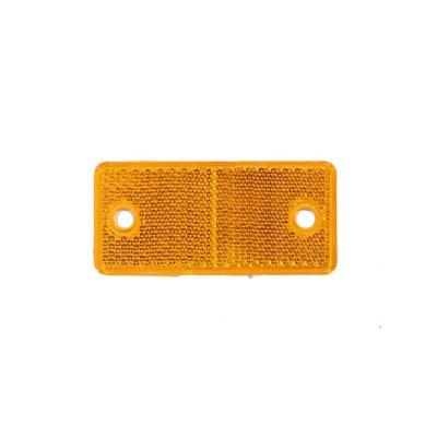 Rechteckiger Reflex - Reflektor Orange  4,4x9,4