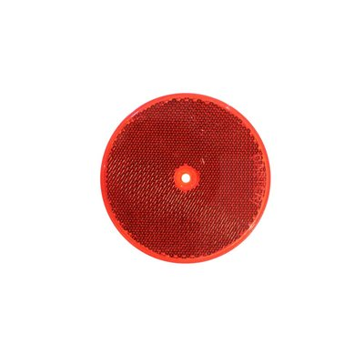 Runder Reflector Ø8cm Rot