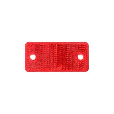 Rechteckiger Reflex - Reflektor Rot 4,4x9,4