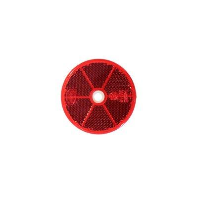 Runder Reflex - Reflektor Ø60mm Rot