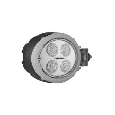 LED Arbeitsscheinwerfer Oval 1500LM Seitenmontage + Deutsch-DT