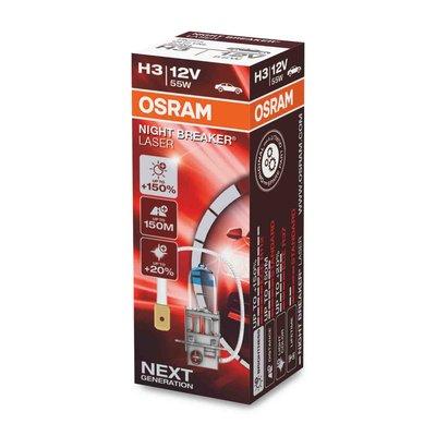 Osram H3 Halogenlampe 12V 55W PK22s Night Breaker Laser