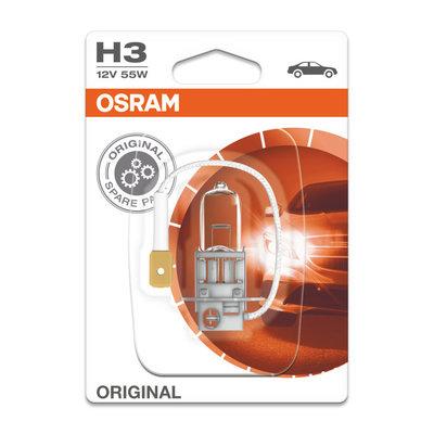 Osram H3 12V 55W Halogen Lampe PK22s Original Line