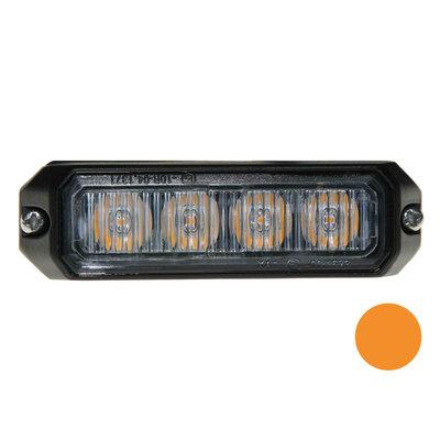 LED flitser 4-voudig compact Orange