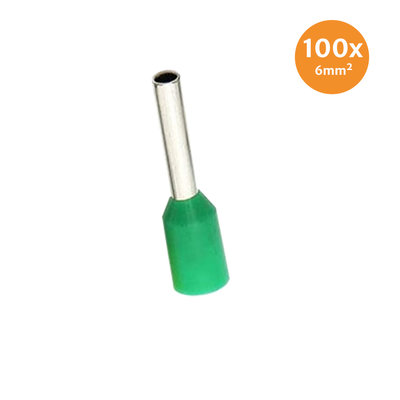 Aderendhüls Isoliert 6mm² Grün 100 Stück