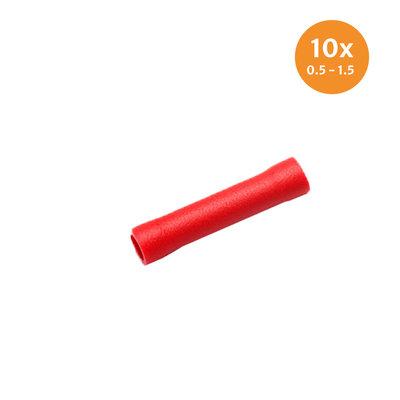 Stoßverbinder Rot (0.5-1.5mm) 10 Pieces
