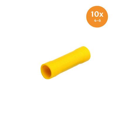 Stoßverbinder Gelb (4-6mm) 10 Stück