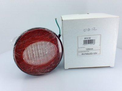 Perei LED Achterlicht 120mm 12V