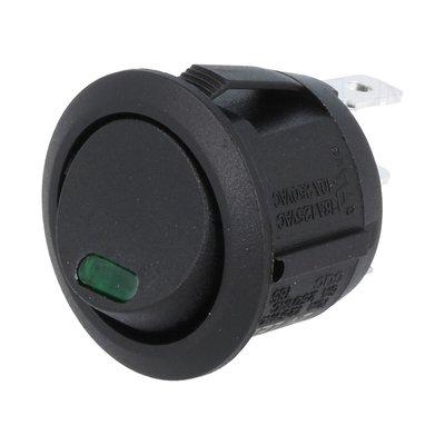 Einbau Schalter Rund 24V 10A Grün