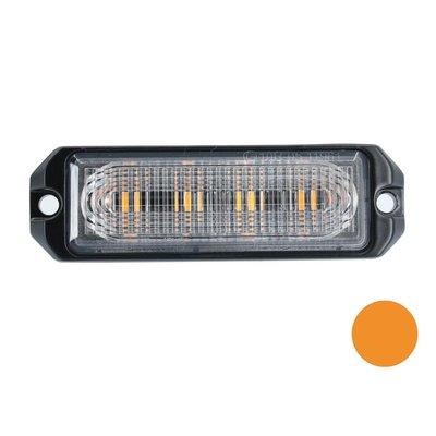 LED Blinker 4-Fach Ultra Flach orange