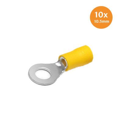 Ringkabelschuh Gelb 10.5mm 10 Stück