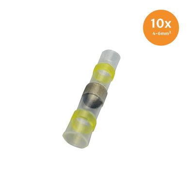 Schrumpfschlauch Loetverbinder Gelb (4-6mm) 10 Stück