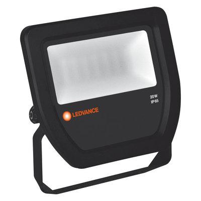 20W LED Fluter 230V Schwarz