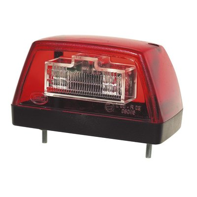 LED Kennzeichenbeleuchtung Rot 12V
