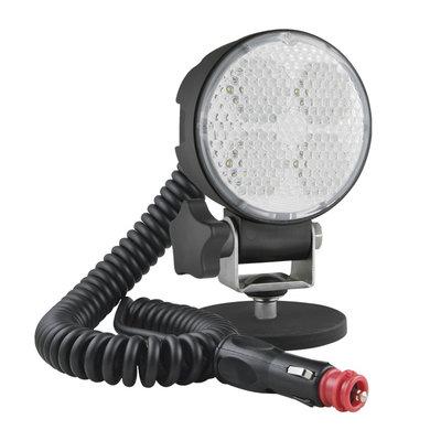 LED Arbeitslampe mit Magnethalter, Spiralkabel und Ausschalter