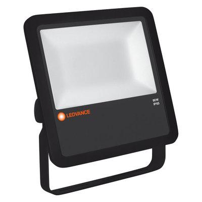 90W LED Fluter 230V Schwarz