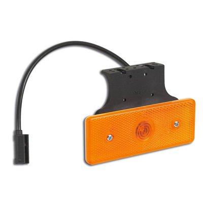 LED- Seitenmarkierungsleuchte Orange mit Winkelhalter und Kabel 10-30V