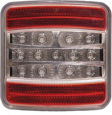 Hintere LED-Lampe mit 5 Funktionen quadratisch