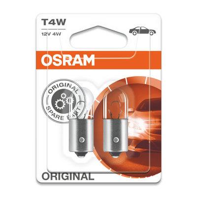Osram T4W 12V Glühbirne BA9s Original Line 2 Stück