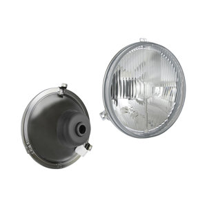 Koplamp VW Transporter Bus, Lamp glass: Ø182mm