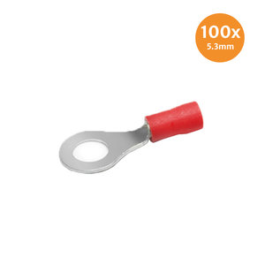 Ringkabelschuh Rot 5.3mm 100 Stück