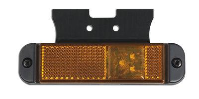 LED Seitenmarkierung Orange mit Reflector und Halterung